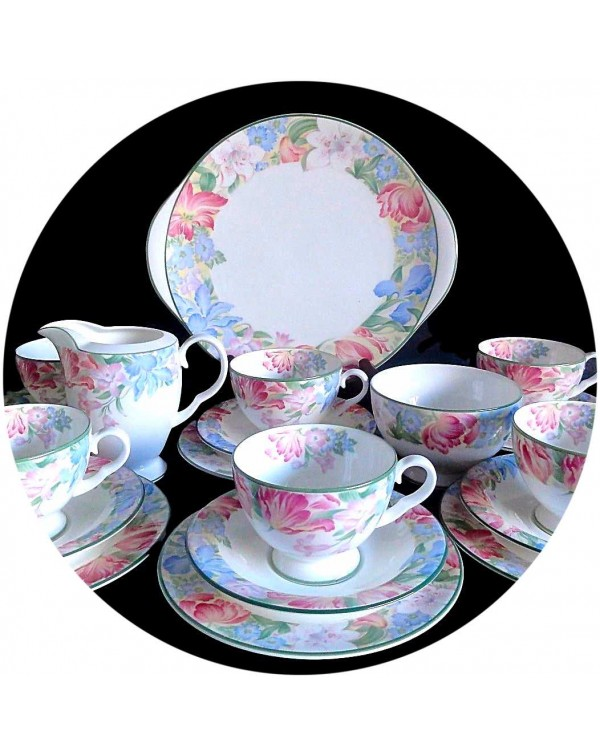 (OUT OF STOCK) ROYAL ALBERT FONTAINE TEA SET