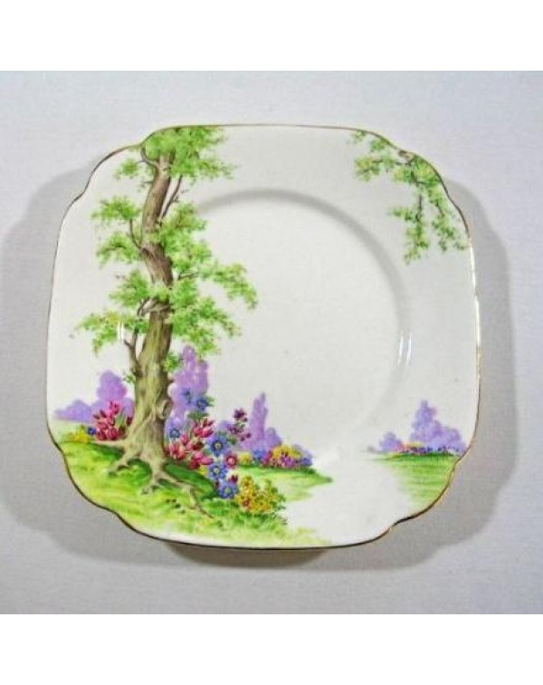 ROYAL ALBERT GREENWOOD TREE TEA PLATE