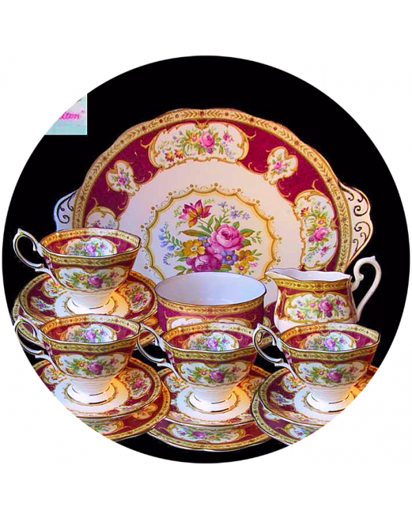 (OUT OF STOCK) ROYAL ALBERT LADY HAMILTON TEA SET
