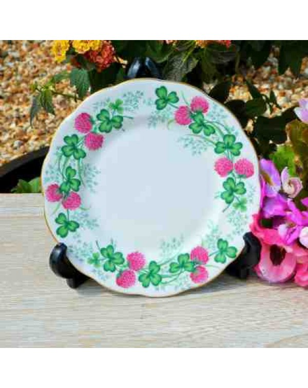 ROYAL ALBERT LUCKY CLOVER TEA PLATE