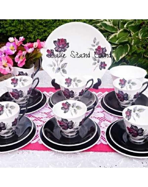 (OUT OF STOCK) Royal Albert Masquerade tea set.