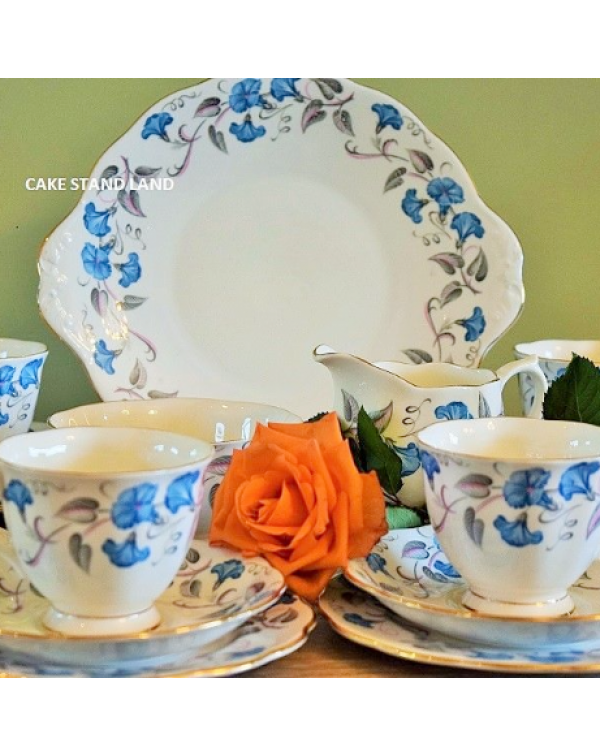 (OUT OF STOCK) ROYAL ALBERT MORNING GLORY TEA SET