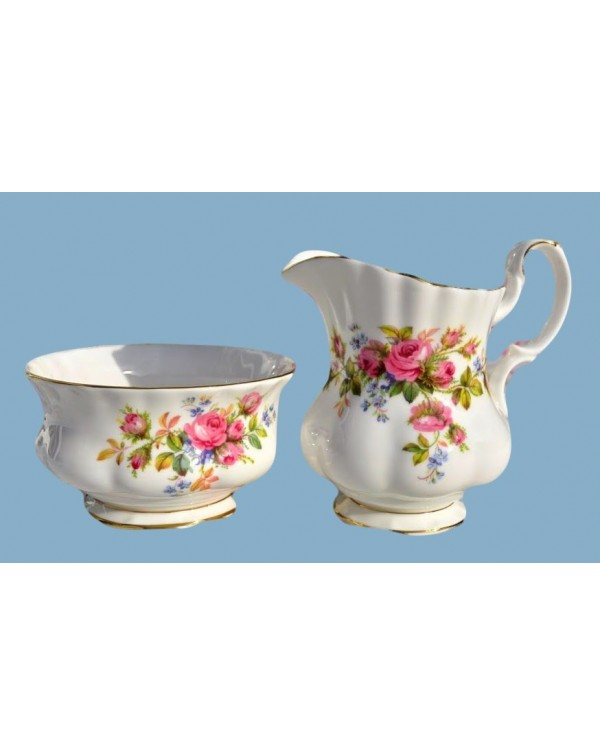 (OUT OF STOCK) ROYAL ALBERT MOSS ROSE MILK JUG AND...