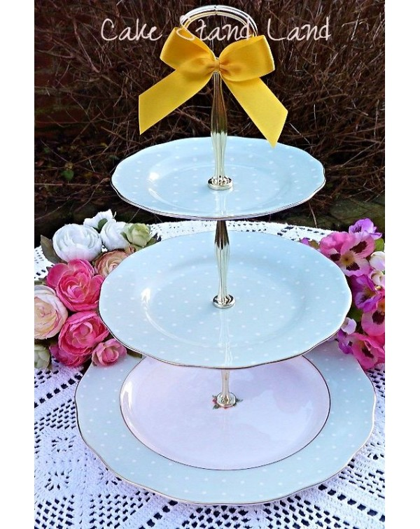 (OUT OF STOCK) ROYAL ALBERT POLKA ROSE CAKE STAND