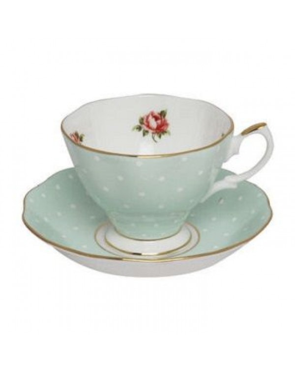 (OUT OF STOCK) ROYAL ALBERT POLKA ROSE TEA CUP AND...