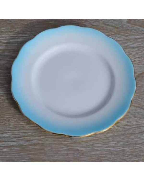 ROYAL ALBERT RAINBOW TURQUOISE TEA PLATE