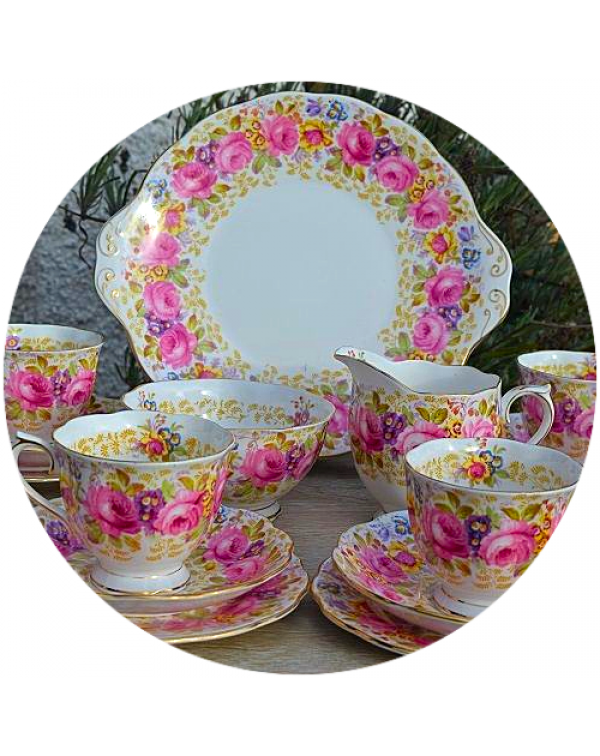 (OUT OF STOCK) ROYAL ALBERT SERENA VINTAGE TEA SET...