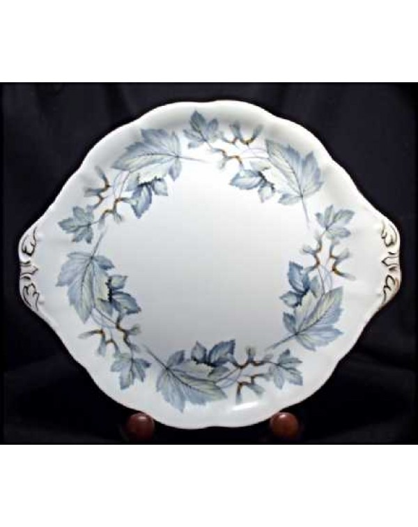(OUT OF STOCK) ROYAL ALBERT SILVER MAPLE CAKE PLAT...