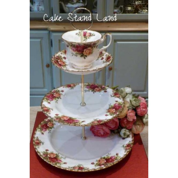OLD COUNTRY ROSES TEA CUP STAND