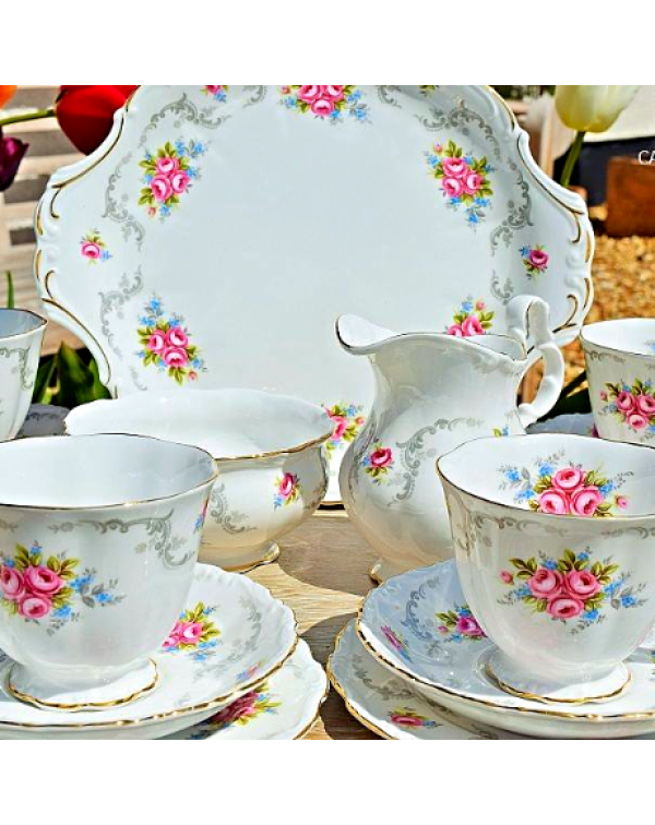 (OUT OF STOCK) ROYAL ALBERT TRANQUILITY TEA SET