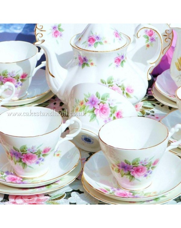 (OUT OF STOCK) ROYAL ASCOT  VINTAGE FLORAL TEA SET...