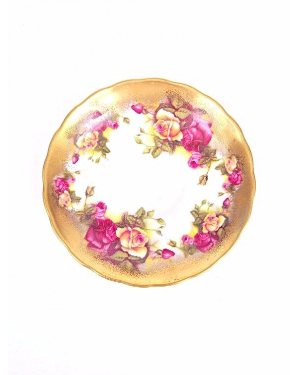 ROYAL CHELSEA GOLDEN ROSE TEA PLATE