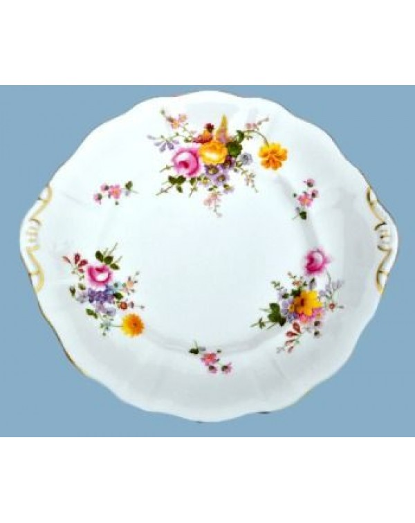 ROYAL CROWN DERBY POSIES CAKE PLATE