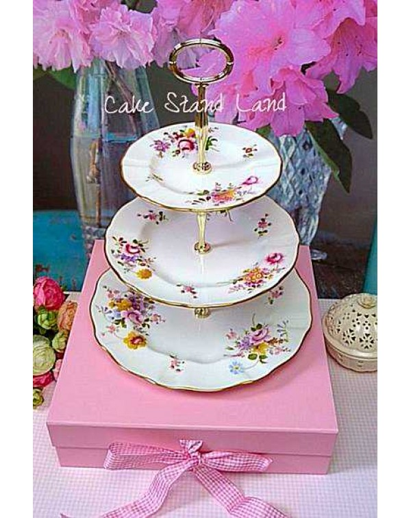 ROYAL CROWN DERBY POSIES CAKE STAND