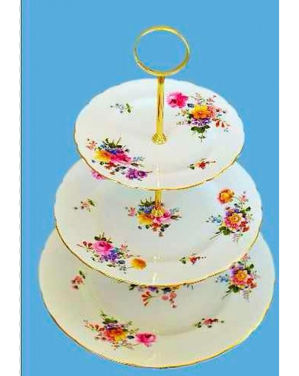 ROYAL CROWN DERBY CAKE STAND DERBY POSIES