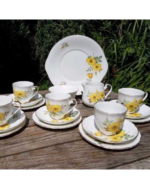 (OUT OF STOCK) ROYAL GRAFTON PRIMROSE TEA SET