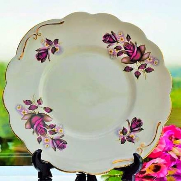 ROYAL IMPERIAL FLORAL  CAKE PLATE