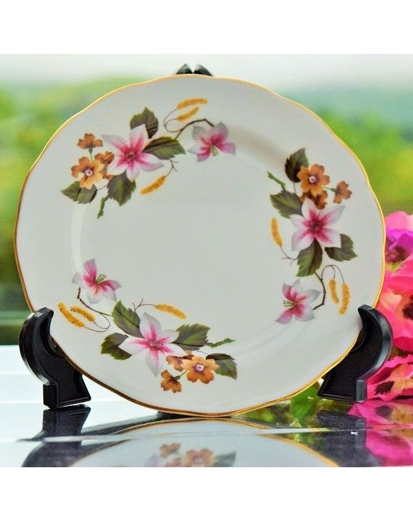 GAINSBOROUGH CLEMATIS TEA PLATE