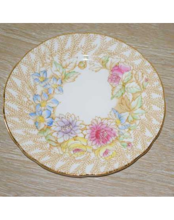 (OUT OF STOCK) ROYAL STAFFORD FERN POSY TEA PLATE