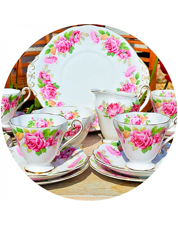 (OUT OF STOCK) ROYAL STAFFORD PINK FLORAL VINTAGE ...