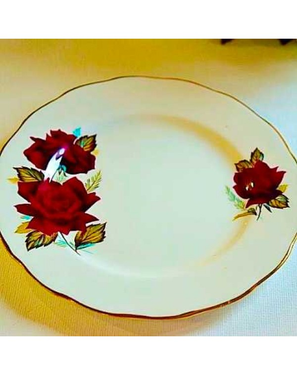 ROYAL VALE TEA PLATE RED ROSE