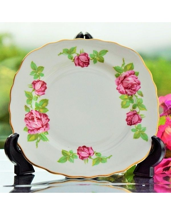 (OUT OF STOCK) ROYAL VALE TEA PLATE PINK ROSE