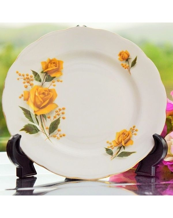 (OUT OF STOCK) ROYAL VALE TEA PLATE YELLOW ROSE