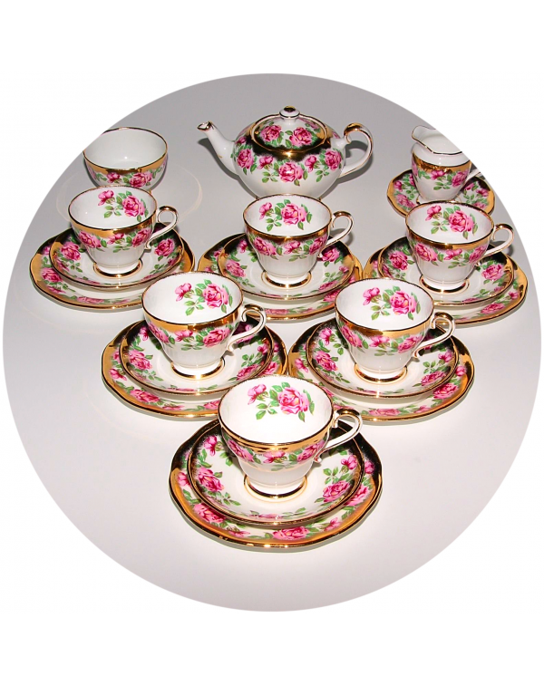 (OUT OF STOCK) SALISBURY FLORAL VINTAGE TEA SET WI...