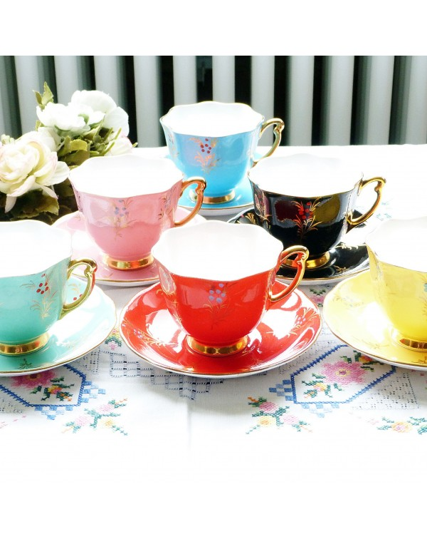 (OUT OF STOCK) SET OF SIX HARLEQUIN COLOURS VINTAG...