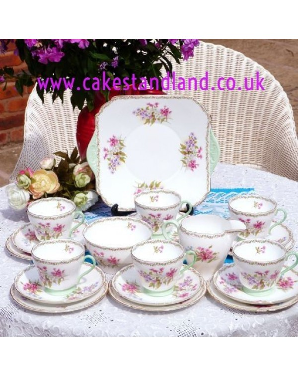 (OUT OF STOCK) SHELLEY FLORAL VINTAGE TEA SET FOR ...