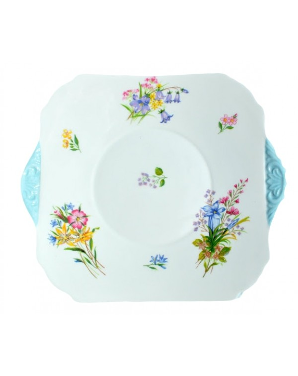 (OUT OF STOCK) SHELLEY WILD FLOWERS CAKE PLATE