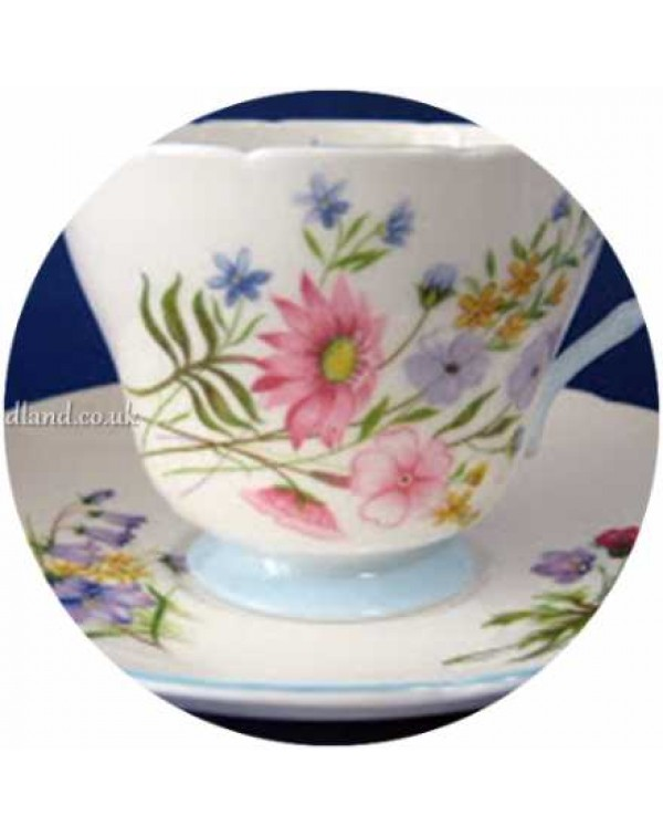 (OUT OF STOCK) SHELLEY WILD FLOWER TEA CUP & S...