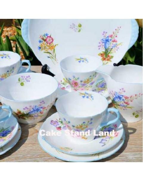 SHELLEY WILD FLOWERS TEA SET