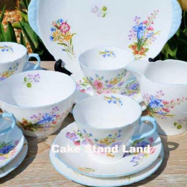 (SOLD)SHELLEY WILD FLOWERS TEA SET