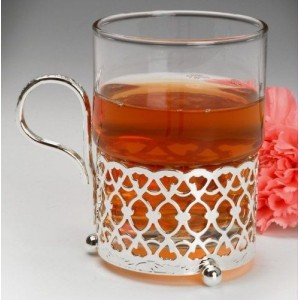 SILVER PLATED HOT TODDY TEA GLASS NEW BOXED