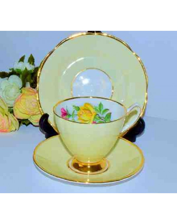 (OUT OF STOCK) STAFFORDSHIRE BUTTERMILK TEA TRIO