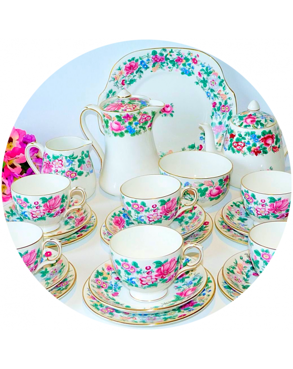 (OUT OF STOCK) CROWN STAFFORDSHIRE THOUSAND FLOWER...