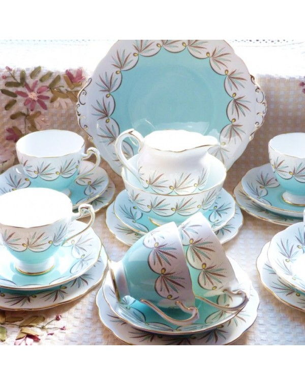 (OUT OF STOCK) ROSLYN ART DECO TEA SET FOR SIX