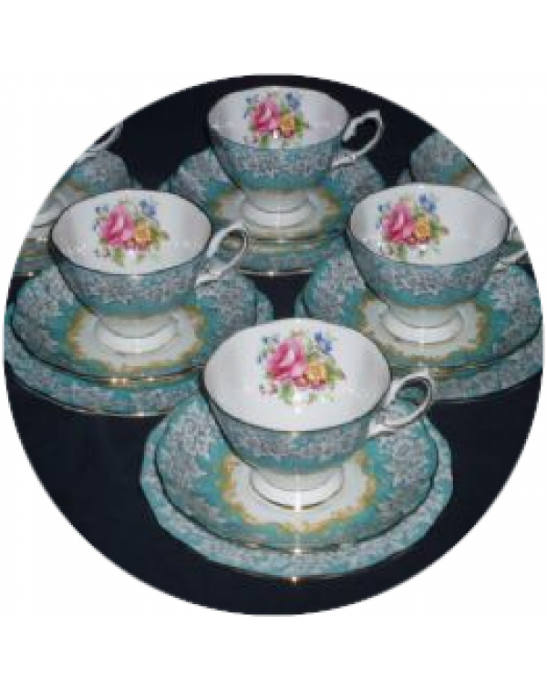 (OUT OF STOCK) ROYAL ALBERT ENCHANTMENT SIX VINTAG...