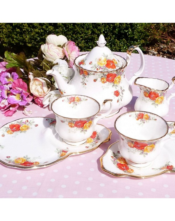 (OUT OF STOCK) ROYAL ALBERT PACIFIC ROSE TEA FOR T...