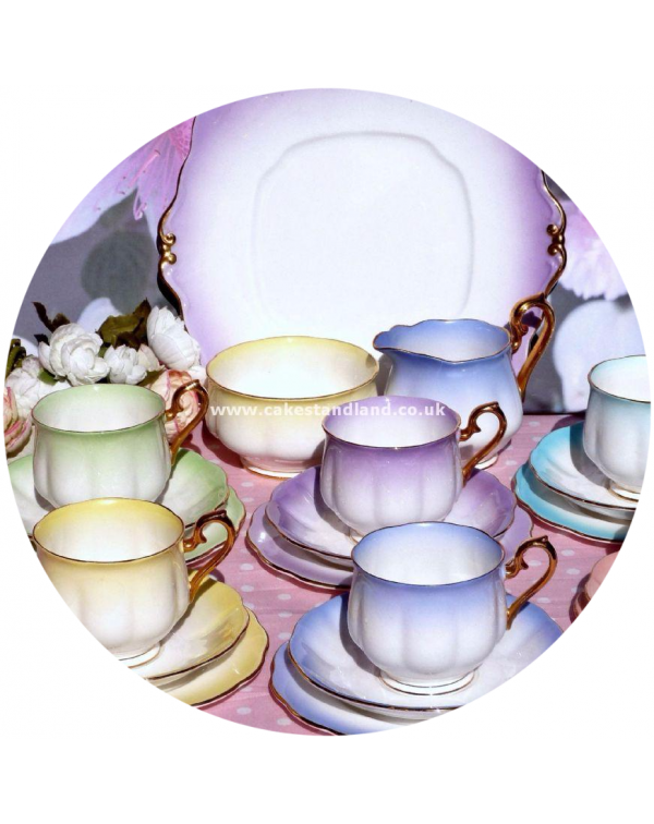 (OUT OF STOCK) ROYAL ALBERT RAINBOW VINTAGE TEA SE...