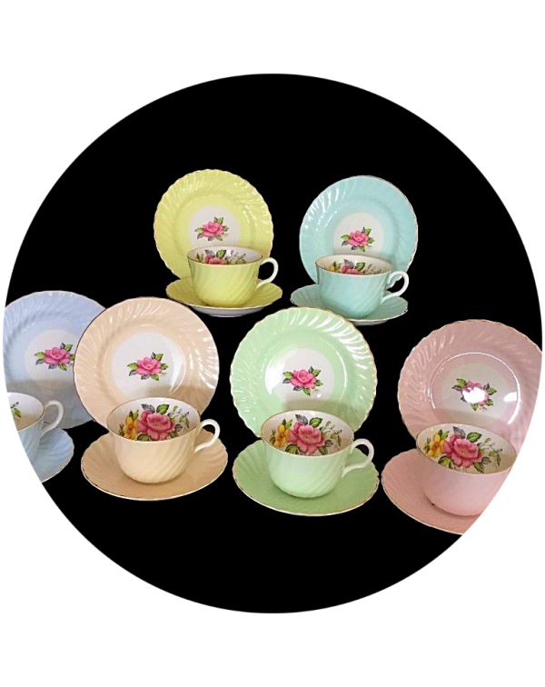 (OUT OF STOCK) ROYAL GRAFTON HARLEQUIN VINTAGE TEA...