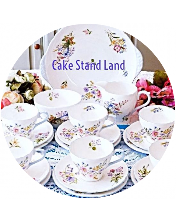 (OUT OF STOCK) SHELLEY WILD FLOWERS TEA SET