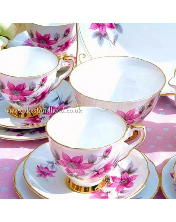 (OUT OF STOCK) ROYAL STAFFORD TEA SET EVESHAM PATT...