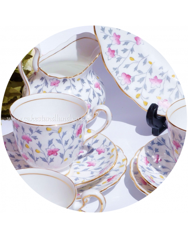 (OUT OF STOCK) VINTAGE TEA SET FOR SIX NEW CHELSEA...