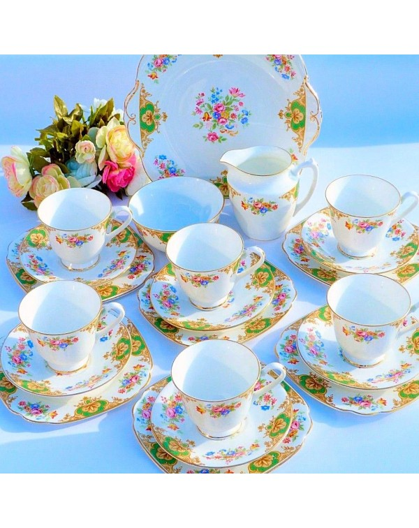 (OUT OF STOCK) WINDSOR CHINA VINTAGE TEA SET