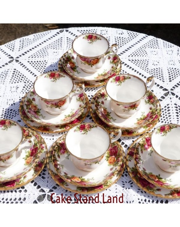 OLD COUNTRY ROSES SIX TEA TRIOS