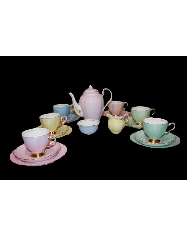 (OUT OF STOCK) TUSCAN HARLEQUIN VINTAGE TEA SET WI...