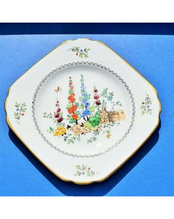 TUSCAN HOLLYHOCKS TEA PLATE