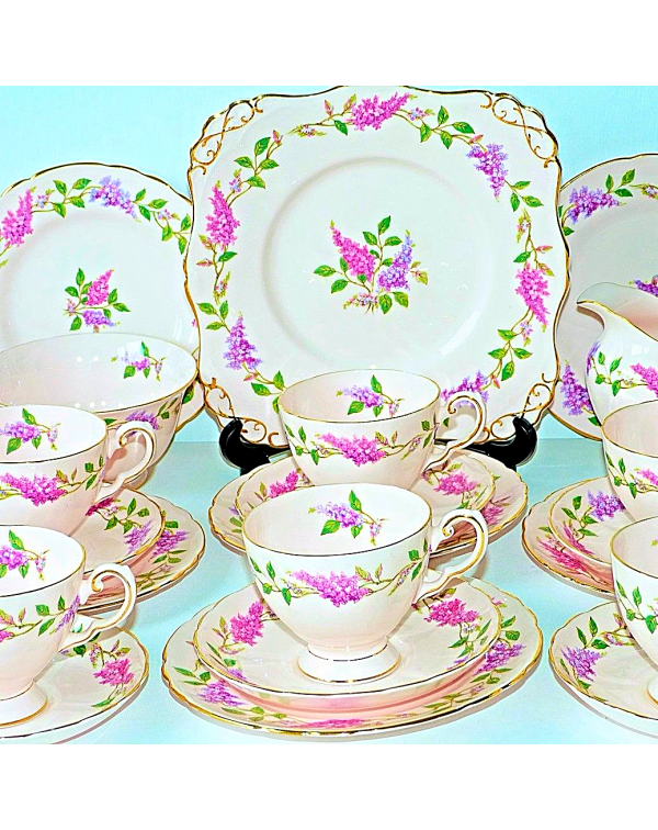 (OUT OF STOCK) TUSCAN LILAC TIME TEA SET